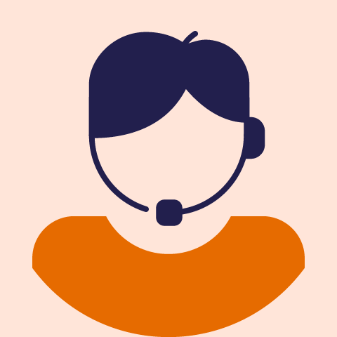 illustration of a person with a headset